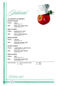 Jídelníček od 12.09. do 16.09.