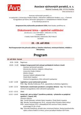 Program - Asociace výchovných poradců