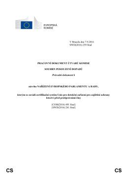 EVROPSKÁ KOMISE V Bruselu dne 7.9.2016 SWD(2016