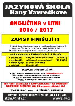 Angličtina v Litni