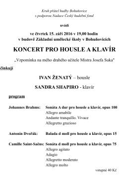 koncert pro housle a klavír - Poznej