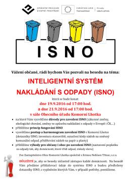 inteligentní systém nakládání s odpady (isno)
