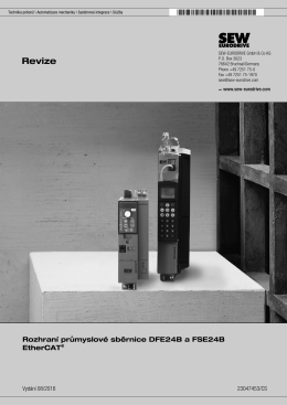 Rozhraní průmyslové sběrnice DFE24B a FSE24B - SEW