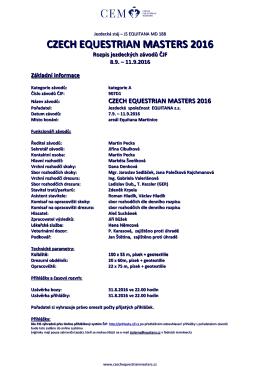 czech equestrian masters 2016