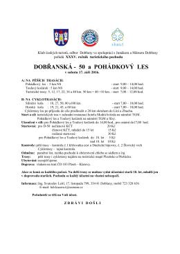 Odbor KČT TJ Dobřany ve spolupráci s Junákem a Městem Dobřany