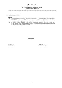 Usnesení ze 47. zasedání rady města ze dne 5.9