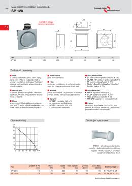SP 120 - ELEKTRODESIGN ventilátory spol. s ro