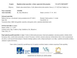 16 – Stomie - SZŠ a VOŠ zdravotnická České Budějovice