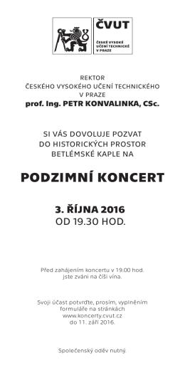 podzimní koncert - České vysoké učení technické v Praze