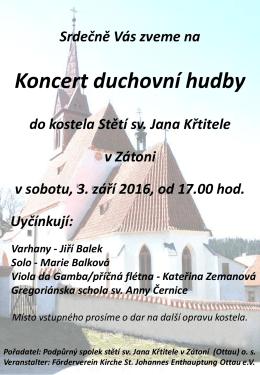kostel Stětí sv.Jana Křtitele v Zátoni v sobotu 3. září 2016 od