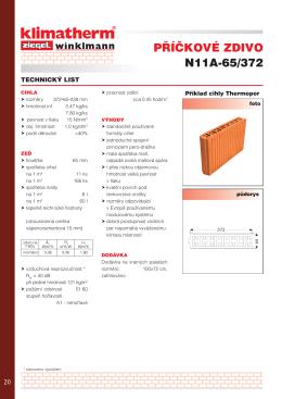Technický list N11a