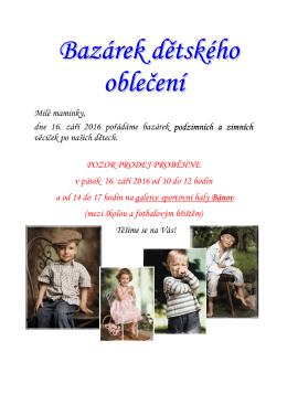 Bazárek dětského oblečení
