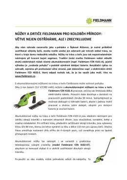 nůžky a drtiče fieldmann pro koloběh přírody: větve