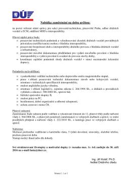 Celý text nabídky zaměstnání v PDF