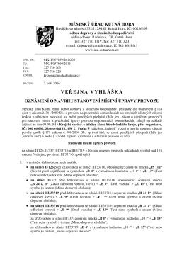 veřejná vyhláška - Městský úřad, Kutná Hora