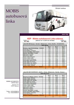 MOBIS autobusová linka