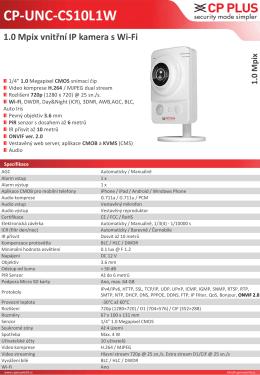 CP-UNC-CS10L1W 1.0 Mpix vnitřní IP kamera s Wi-Fi