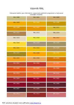 Vzorník barev RAL - LUX