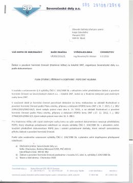 Žádost organizace - Český báňský úřad
