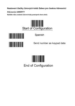 Nastavení čtečky čárových kódů Zebex pro českou klávesnici