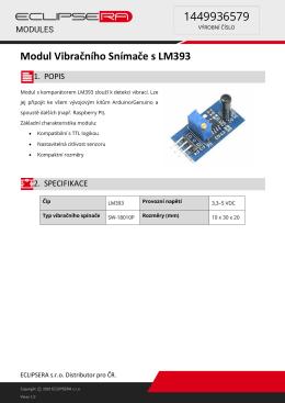 Modul Vibračního Snímače s LM393