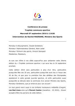 Lire le discours du Ministre Madrane