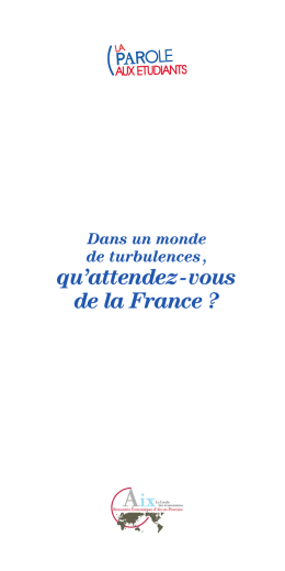 qu`attendez - vous de la France ?