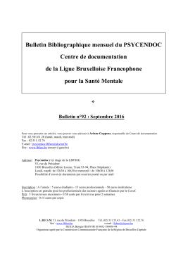Télécharger le bulletin mensuel - Ligue Bruxelloise Francophone