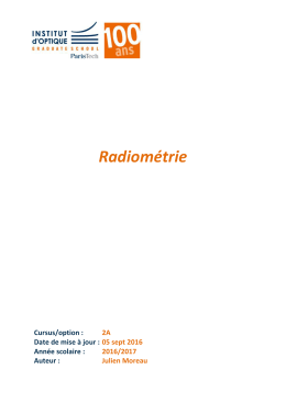 Cours de Radiométrie 2015-2016 - (paristech.institutoptique.fr) au