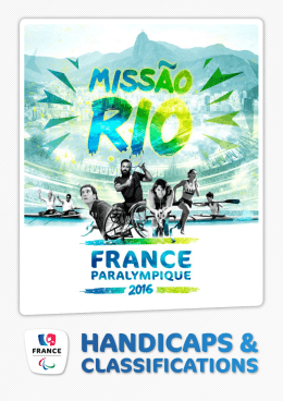 handicaps - France Paralympique