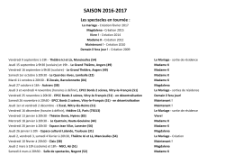 Saison 2016-2017 - Cie Demain il fera jour
