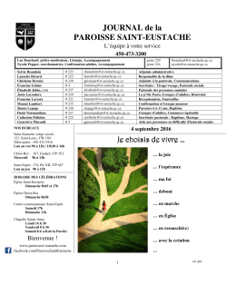 Journal paroissial - Paroisse Saint