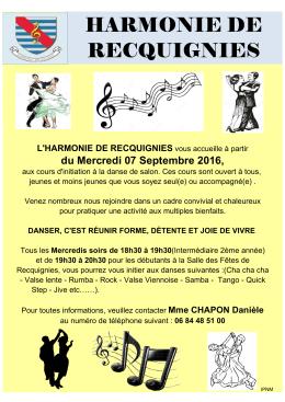 05) Affiche officielle cours de danse recquignies 2016.2017