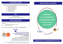 Form Coordination programmes Cycle 2016