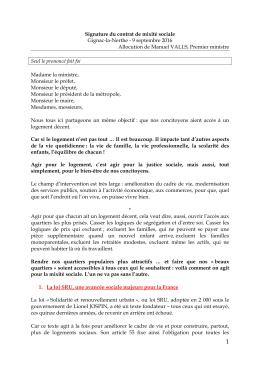 Signature du contrat de mixité sociale, à Gignac-la