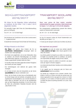 Transport scolaire-Infos