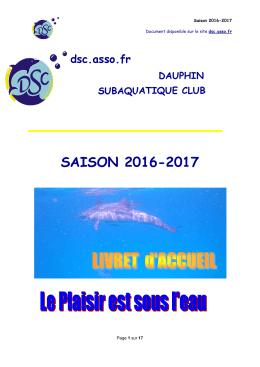 saison 2016-2017 - Dauphin Subaquatique Club