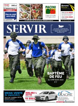 baptême de feu - Journal Servir