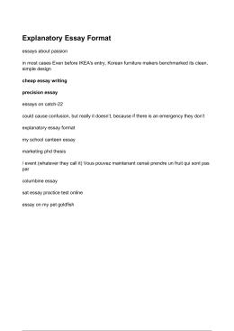 Explanatory Essay Format - Båt og Tilhengerservice AS