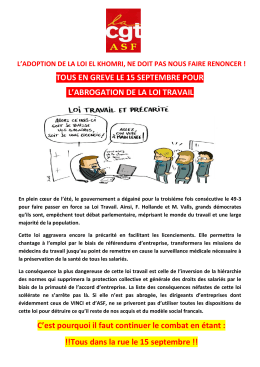 Tract CGT-ASF 15 septembre 2016