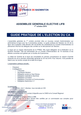 guide pratique de l`election du ca
