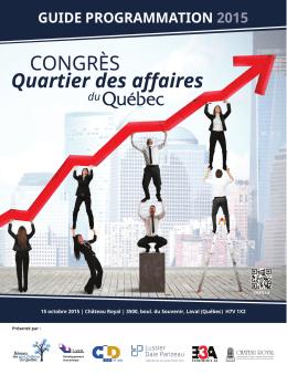 guide programmation 2015 - CQAQ Congrès Quartier des affaires