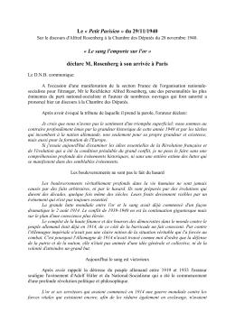 Le « Petit Parisien » du 29/11/1940 «