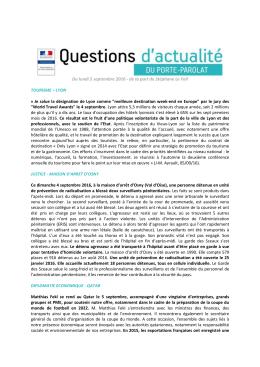 Questions d`actualité du 5 septembre 2016