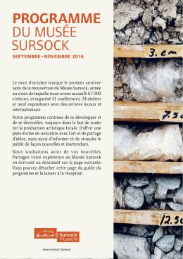 Programme du Musée sursock