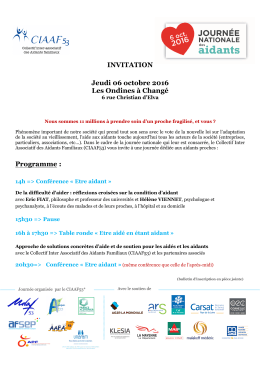 Invitation, programme et bulletin d`inscription
