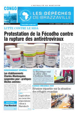 Protestation de la Fécodho contre la rupture des antirétroviraux