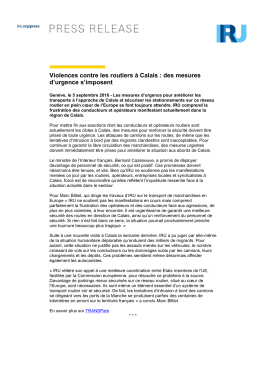 Violences contre les routiers à Calais : des mesures d`urgence