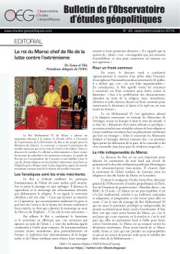 Bulletin de l`OEG n°45 - Observatoire d`Etudes Géopolitiques