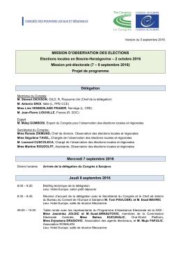 Programme - Conseil de l`Europe